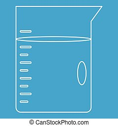 Glass jar icon, outline style - Glass jar icon blue outline...