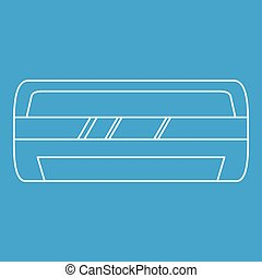 Modern air conditioner icon, outline style