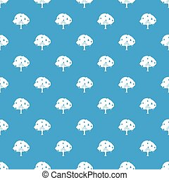 Pear tree with pears pattern seamless blue - Pear tree with...