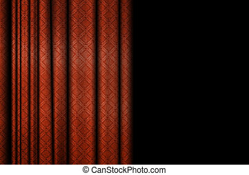 Stage Background - Red Stage Theater Draped Curtain...