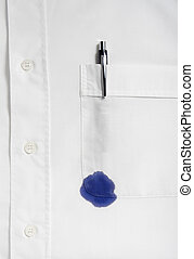 white shirt - close up of businessman ruined shirt and and...