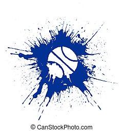 Grunge style basketball. Vector illustration isolated on white background