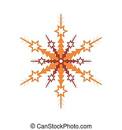 Winter snowflake isolated vector icon - Winter snowflake...