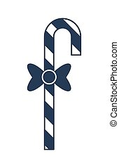 Striped christmas candy cane vector icon - Striped christmas...