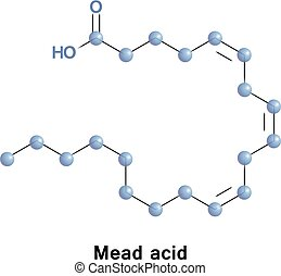 Mead acid molecule - Mead acid is an omega-9 fatty acid. Its...