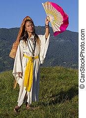 sabiha, pokhara, nepal., bailando, filipinas, nacido,...