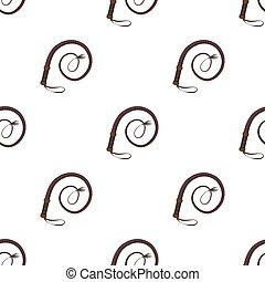 Whip icon in cartoon style isolated on white background....