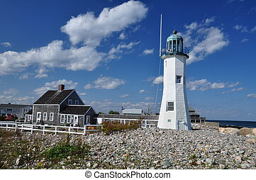Historic Lighthouse - The Scituate Lighthouse in...