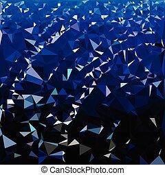 Blue wallpaper polygon