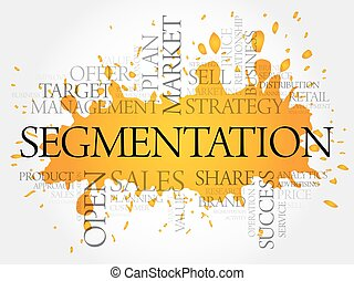 Segmentation word cloud collage, business concept