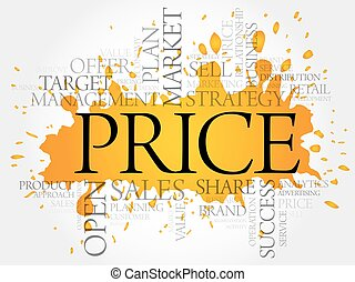 PRICE word cloud collage, business concept