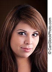 Beautiful Latin Woman - A pretty young Hispanic woman with a...