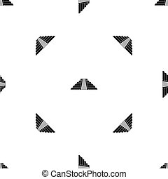 Ziggurat in Chichen Itza pattern seamless black - Ziggurat...