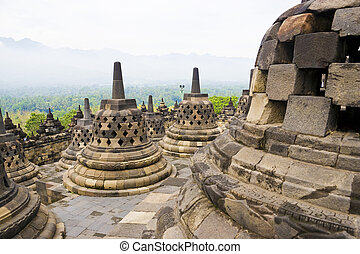 Borobudur Temple, Indonesia - Image of UNESCO's World...
