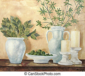 Still life - Original oil painting of still life by Irina...