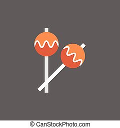 Maracas Icon Drums Music Instruments Flat Vector...