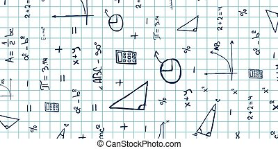 Mathematics subject. Back to School background. Education...