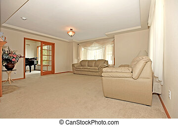 Large and empty living room