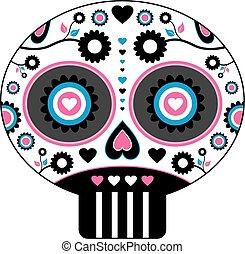 Dia de los Muertos - Mexican Skull - Dia de los Muertos -...