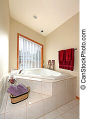 Bathroom - Large bathroom with a high ceiling Kirkland, WA...