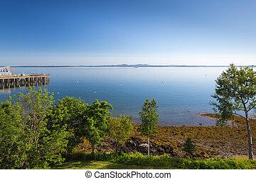 Frenchman Bay at Bar Harbor Maine USA - Frenchman Bay at...