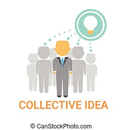 Collective Idea Businesspeople Team Cooperation Icon Business Banner