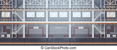 Empty Factory Conveyor Automatic Assembly Line Machinery...