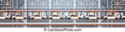 Car Production Conveyor Automatic Assembly Line Machinery...