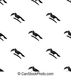 Mexican keel-billed toucan icon in black style isolated on...