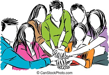 people team concept vector illustration