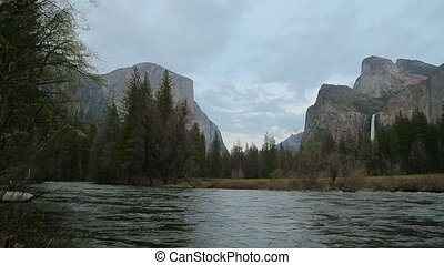 Yosemite Lower Falls. - Yosemite national park. Yosemite...