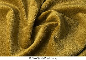 Golden velour fabric background, velvet,mohair,cashmere...