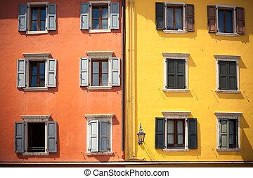 Mediterranean architecture in Riva del Garda