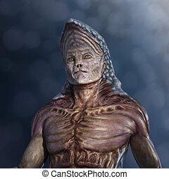 Strange Alien Portrait