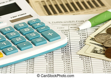 Checking The Balance - checking spreadsheet concept - with...