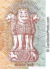 nota, agasalho,  Índia, braços, moeda corrente