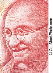 Mahatma Gandhi on Currency Note - Macro image of Mahatma...
