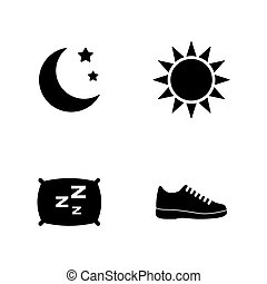 Activity tracking. Simple Related Vector Icons