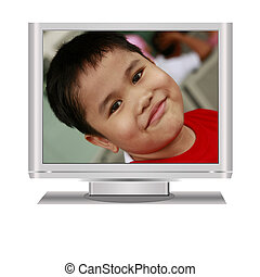 Boy in Lcd Television
