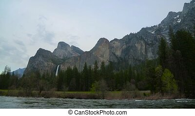 Yosemite national park. - View fwaterfalls and merced river...