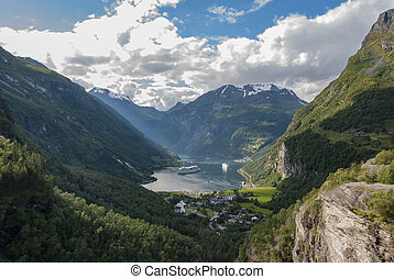 Geiranger village viewed from south