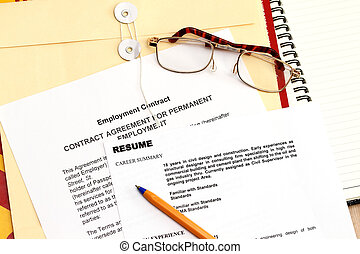 Fictitious Resume - A fictitious resume with employment...