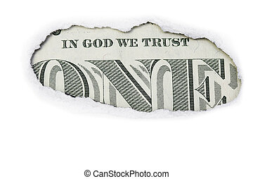 One Dollar  In God We Trust