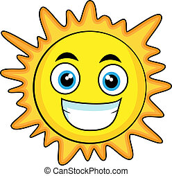 cute looking sun - vector illustration of a cute looking...