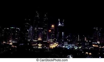 Night cityscape Kuala Lumpur, Malaysia - Night cityscape...