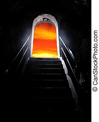 exit - An exit from a tomb leads to light and hope