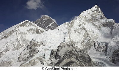 Everest, Nuptse and Lhotse mountains view from Kala Patthar...