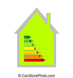 House with energy classification - Green house with energy...