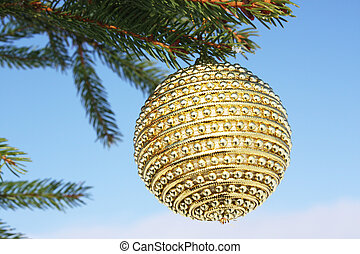 bauble on christmas tree