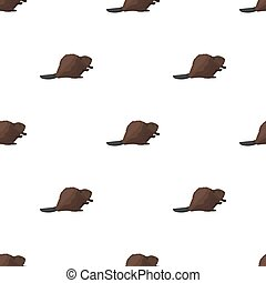 Canadian beaver. Canada single icon in cartoon style bitmap,...